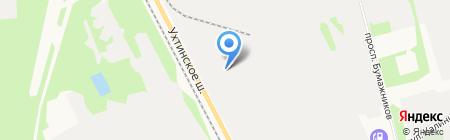 Антикор-Эжва на карте Сыктывкара