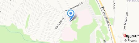 Бюро судебно-медицинской экспертизы на карте Сыктывкара