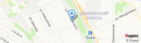 Каскад на карте Сыктывкара