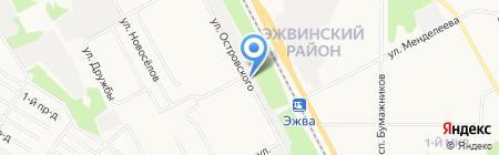 На Строителе на карте Сыктывкара