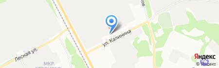 Завод крупнопанельного домостроения на карте Сыктывкара