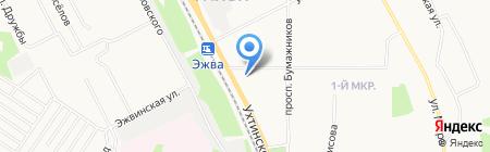 Перспектива на карте Сыктывкара