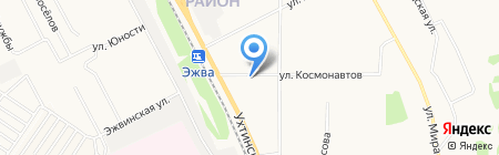Дачник на карте Сыктывкара
