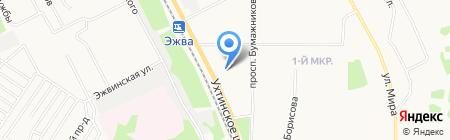 Метрика на карте Сыктывкара
