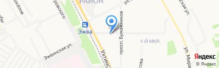 Автолавка на карте Сыктывкара