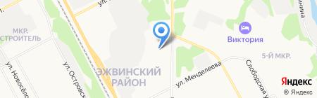 Столовая на карте Сыктывкара