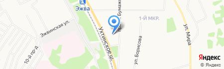Алмаз на карте Сыктывкара