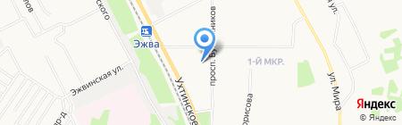 Сыктывкарский хлебокомбинат на карте Сыктывкара