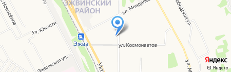 Кустов И.П. на карте Сыктывкара