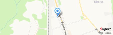 Андреевский на карте Сыктывкара