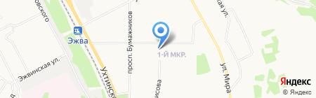 Экспект на карте Сыктывкара