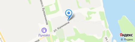Автосервис на ул. Калинина на карте Сыктывкара