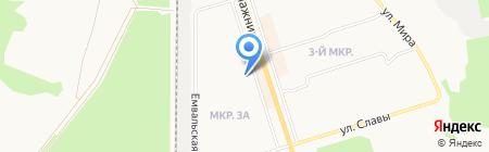Галофорт на карте Сыктывкара