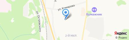Сушиман на карте Сыктывкара