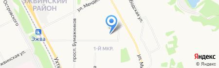 ЭЖВА на карте Сыктывкара