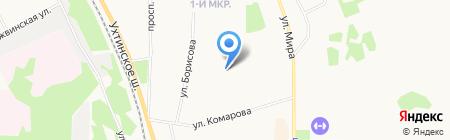 Феникс на карте Сыктывкара
