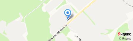 Столовая на Промышленной 1-й на карте Сыктывкара