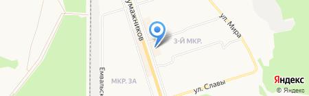 Арзаг на карте Сыктывкара