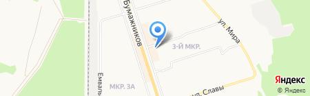 Бумажников 53Б на карте Сыктывкара