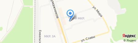 Мастерская по ремонту обуви на Школьном переулке на карте Сыктывкара