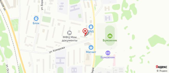 Карта расположения пункта доставки Билайн в городе Эжва