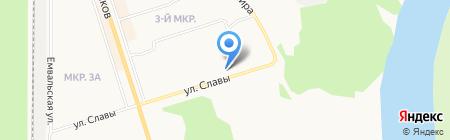 Ника и Актив на карте Сыктывкара