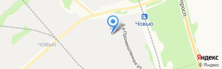Полиур на карте Сыктывкара