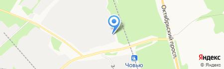 Лузалес на карте Сыктывкара
