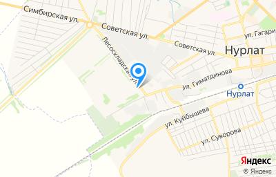 Местоположение на карте пункта техосмотра по адресу Респ Татарстан, г Нурлат, ул Складская, д 2, пом 1001