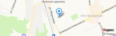 Мост на карте Сыктывкара