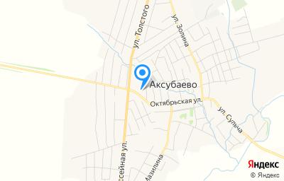 Местоположение на карте пункта техосмотра по адресу Респ Татарстан, пгт Аксубаево, ул Водстрой, д 1В