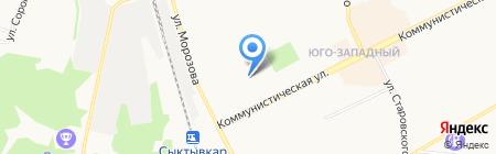 Флагман на карте Сыктывкара