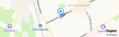 МАРГАРИТА на карте Сыктывкара