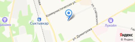 Детский сад №93 Березка на карте Сыктывкара