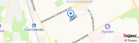 Поморье на карте Сыктывкара