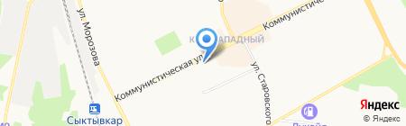 Теле2-Коми на карте Сыктывкара