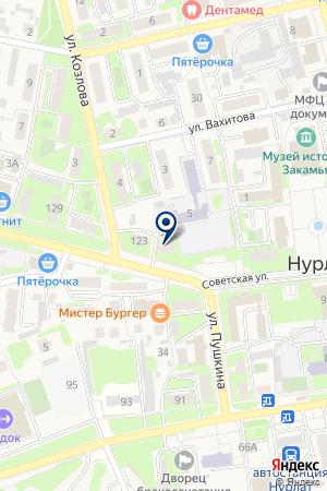 НУРЛАТСКИЙ ЦЕНТР ДЕТСКОГО ТВОРЧЕСТВА на карте Нурлата