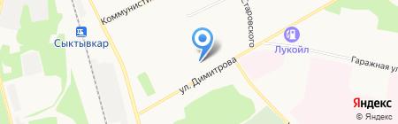 Средняя общеобразовательная школа №36 с углубленным изучением отдельных предметов на карте Сыктывкара