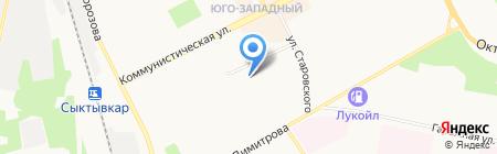 Детский дом №3 на карте Сыктывкара