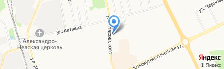 Фишка на карте Сыктывкара