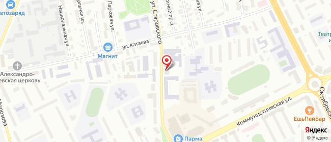 Карта расположения пункта доставки Сыктывкар Старовского в городе Сыктывкар