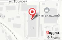 Схема проезда до компании Октава плюс в Сыктывкаре