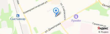 Гросс на карте Сыктывкара