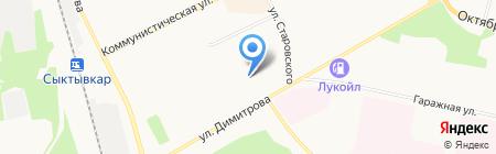 Мастерская по ремонту обуви на ул. Димитрова на карте Сыктывкара