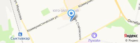Джулия на карте Сыктывкара
