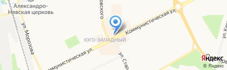 Киоск по продаже фастфудной продукции на карте Сыктывкара