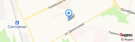 Адента на карте Сыктывкара