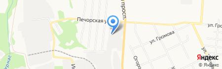 Веста на карте Сыктывкара