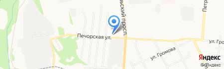 Радиант на карте Сыктывкара