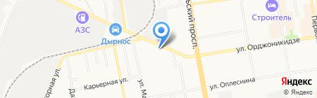 Нешали на карте Сыктывкара